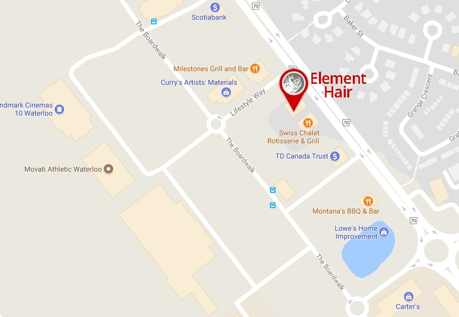 map to Element Hair in Waterloo