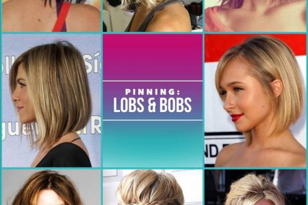 We love these lobs and bobs haircut