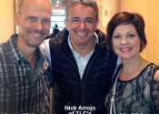 Nick Arrojo with Lance Nielsen and Kim Nielsen of Element Hair