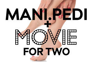 Two movie tickets with your manicure and pedicure at Element Hair