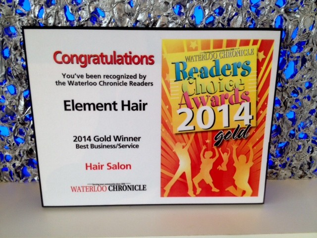 Waterloo Chronicle Readers Choice Award for 2014
