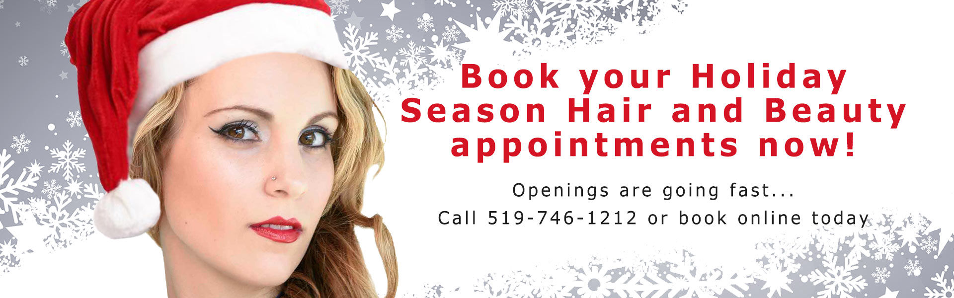 Christmas hair styles appointments Waterloo Ontario Element Hair