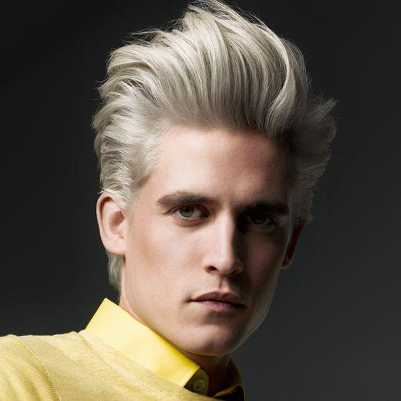 cool blonde glazed beach look for men