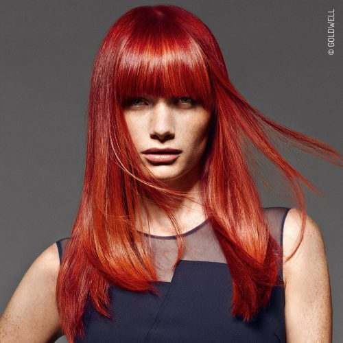 The Fiery Red Service! Fall 2016 RED collection womens hair colour