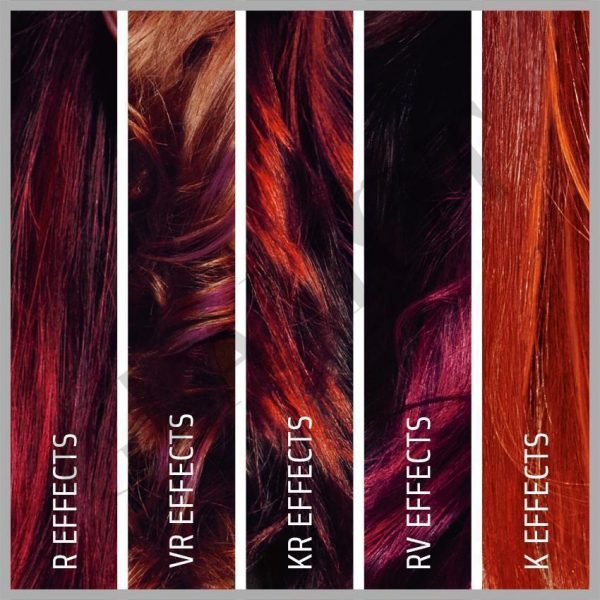 Fall 2016 RED collection womens hair colour. Goldwell Elumen Topchic women's hair colouring.