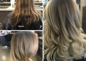 before and after hair style and colour