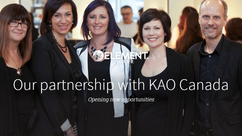 KAO Canada and Element Hair Waterloo