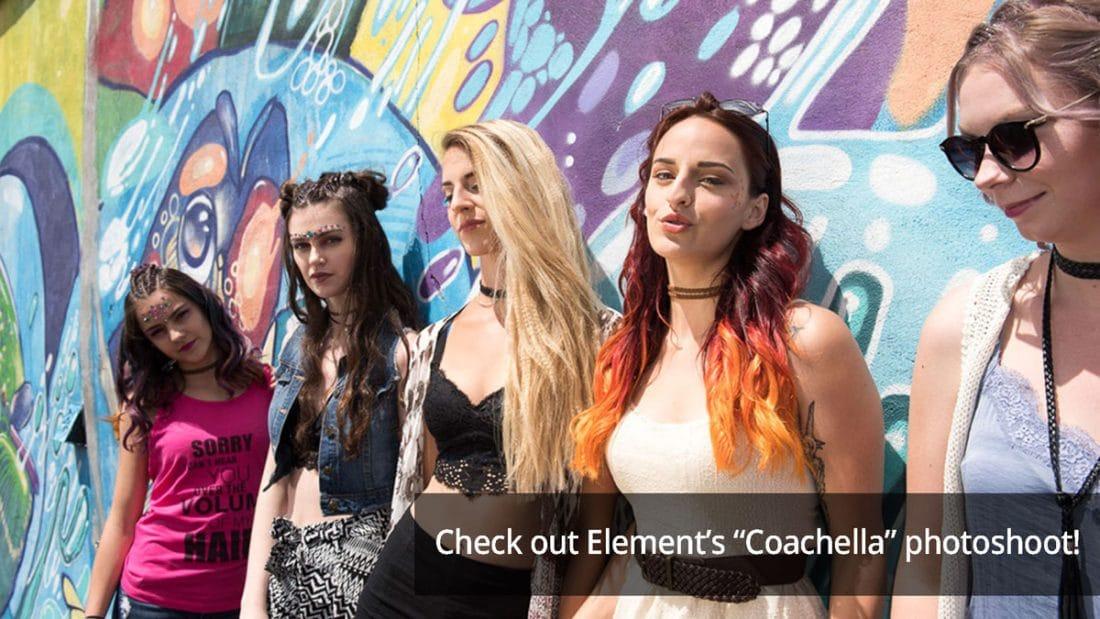 Element's coachella inspired photoshoot