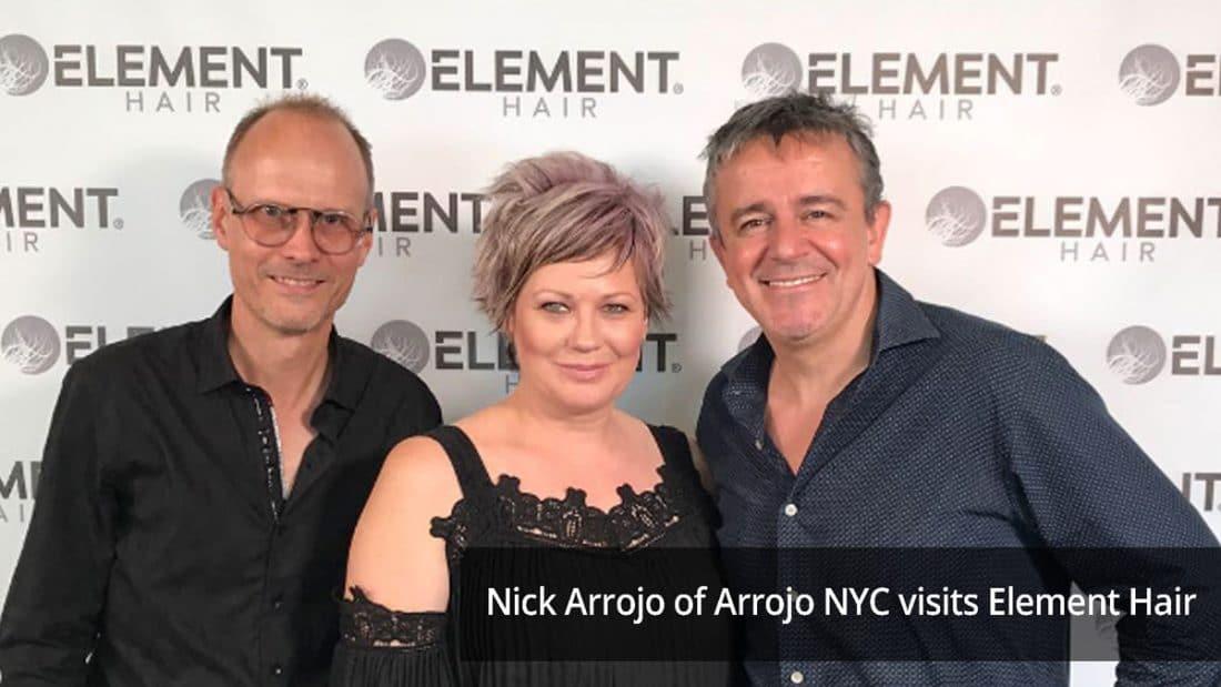 Nick Arrojo visits Element Hair in Waterloo