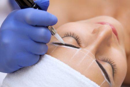 Microblading eyebrow makeup natural looking semi-permanent