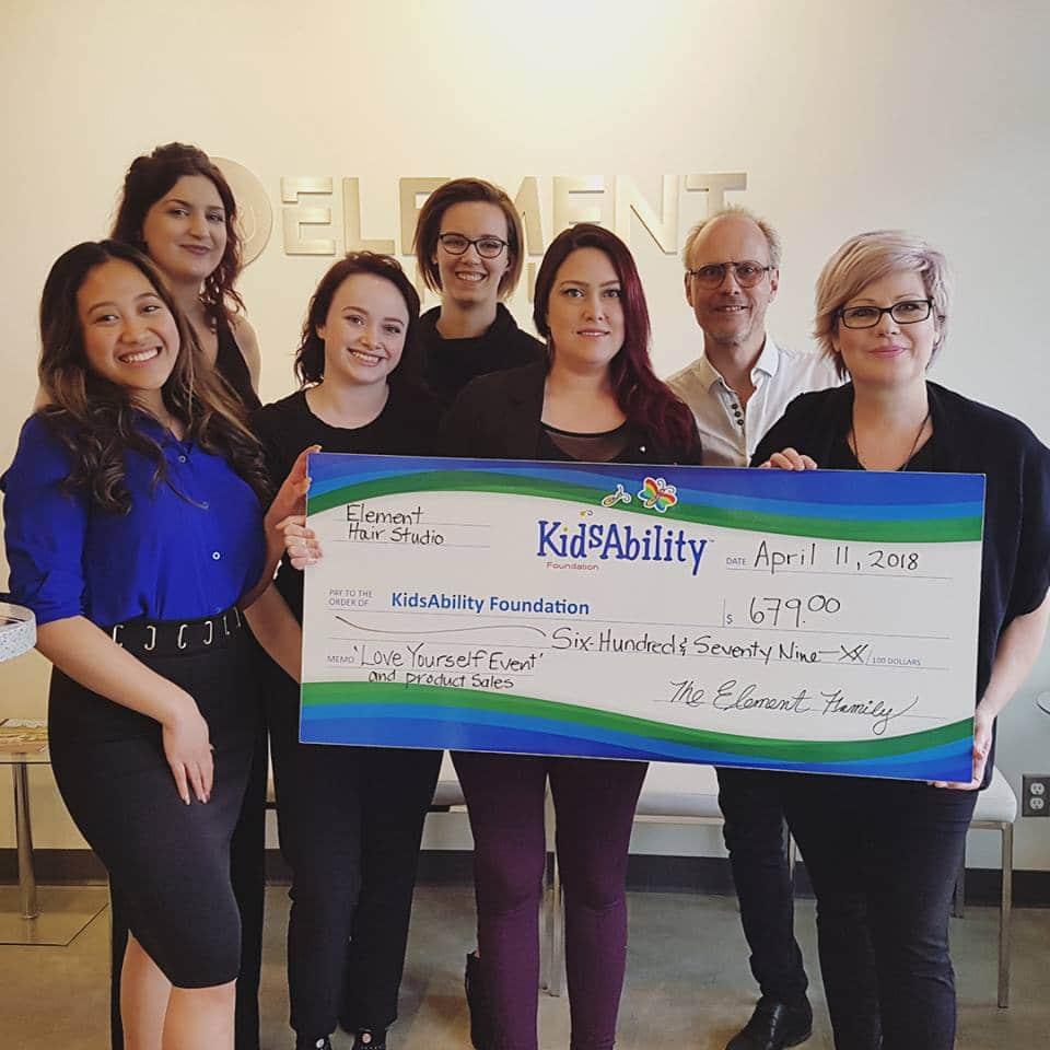 Element Hair fundraiser for Kidsability