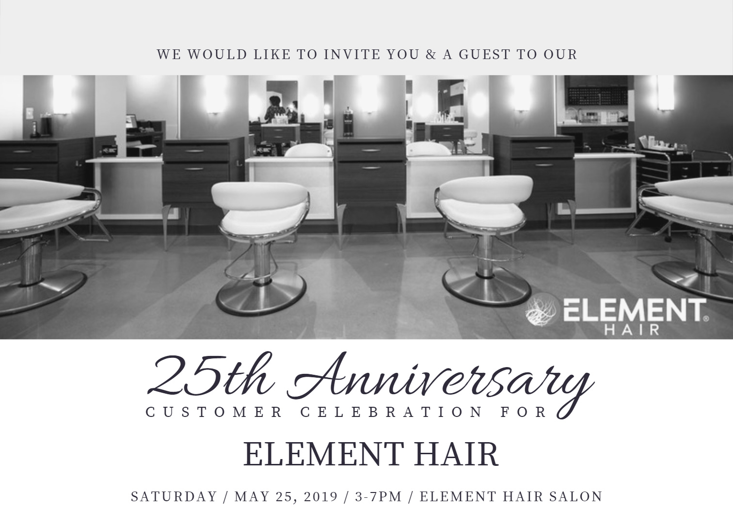 25th Anniversary Element Hair Studio