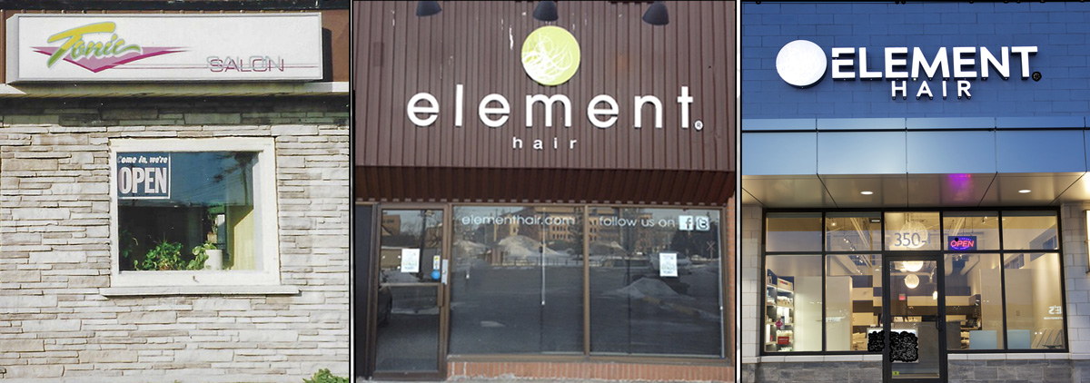 Element Hair over the years